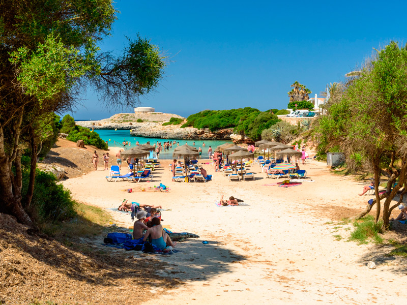 Beach in Cala Blanca Menorca